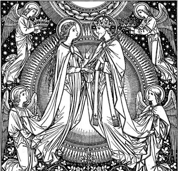 Assumption-of-Mary-line-art